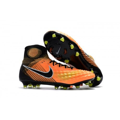 Nike Magista Obra II TF Yellow Black Soccer Boots  25fec92063f4