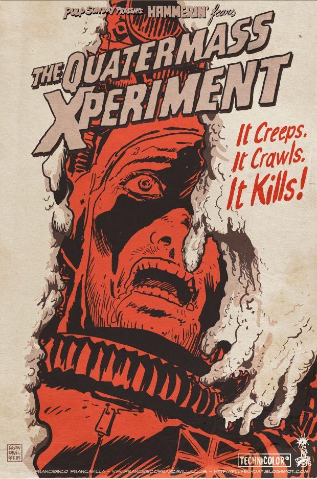 A2  REPRINT THE QUATERMASS EXPERIMENT RARE HAMMER HORROR FILM POSTER A3