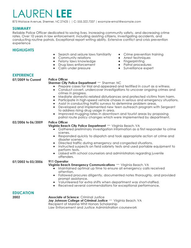 Is Your Resume As Powerful As It Should Be Use This Police Officer Resume Template To Make Sure You In 2020 Resume Examples Police Officer Resume Speech And Language