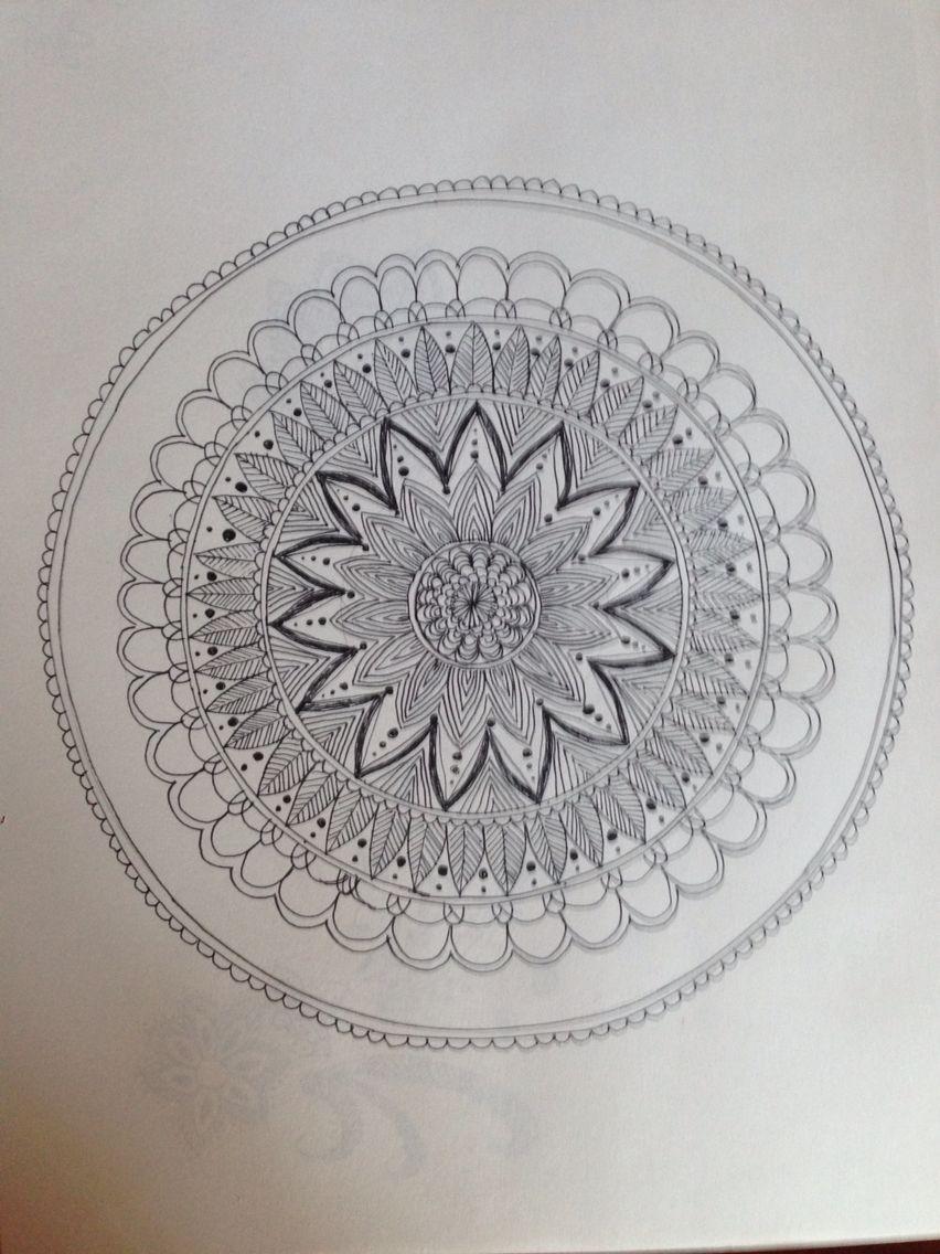 Mandala 1   Compass tattoo, Coloring books, My drawings