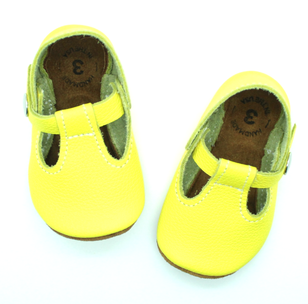 056f9875b9022 the original soft-soled t-strap: neon yellow (RTS) | kids style ...