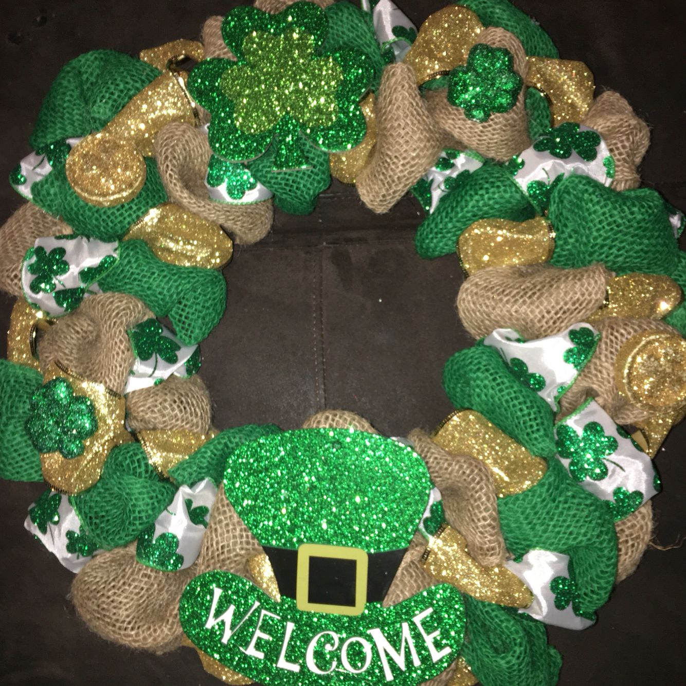 st patrick 39 s day wreath holiday wreaths for sale by me. Black Bedroom Furniture Sets. Home Design Ideas