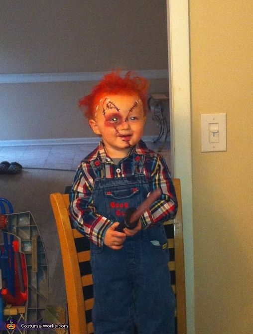Chucky Doll Baby Costume | Chucky doll costume, Chucky and Costume ...