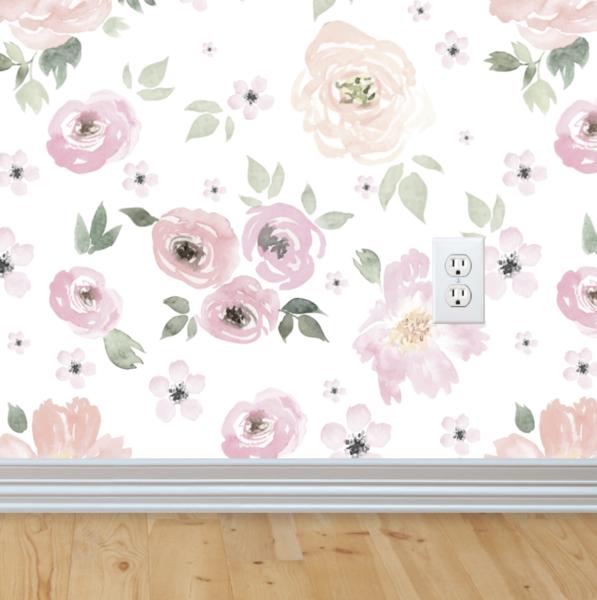 Bella Wallpaper Peel Stick Vintage Floral Wallpapers Floral Wallpaper Removable Wallpaper