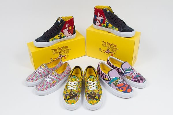 3d855d16bd The Beatles have teamed with Vans for a collection of trippy shoes inspired  by  Yellow
