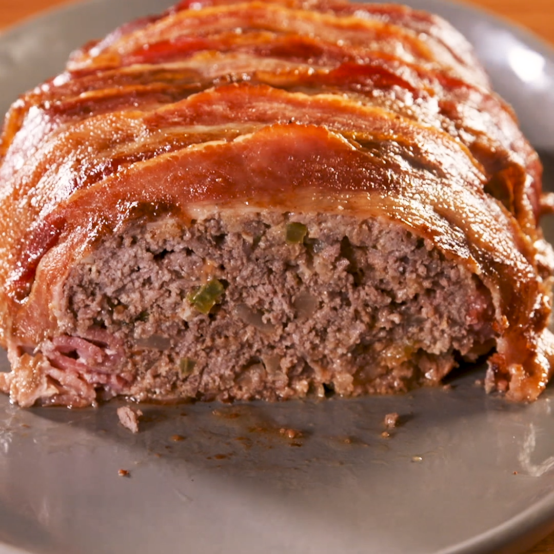 Photo of Bacon-Wrapped Keto Meatloaf