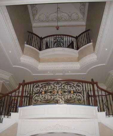 Best Three Story Foyer Double Curved Staircases With Ornate 640 x 480