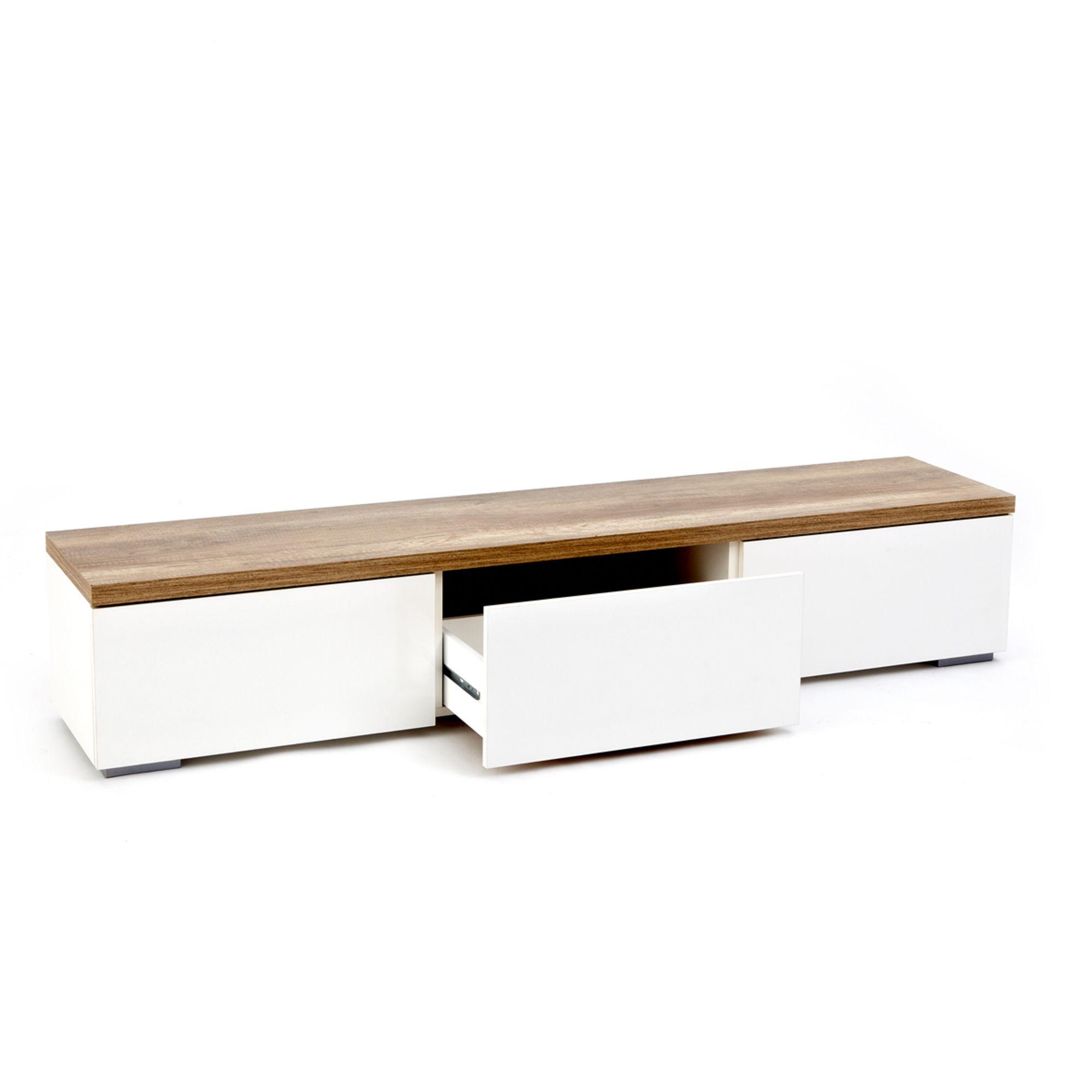 impressionen lowboard mit elegantem korpus in wei und. Black Bedroom Furniture Sets. Home Design Ideas