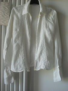 Camicia in lino colore bianco