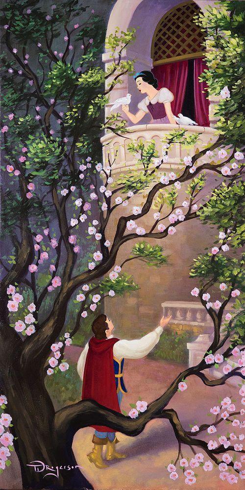 Details about Where Art Thou Snow White Tim Rogerson LE 95 Signed Canvas Disney Princess #disneyprincess
