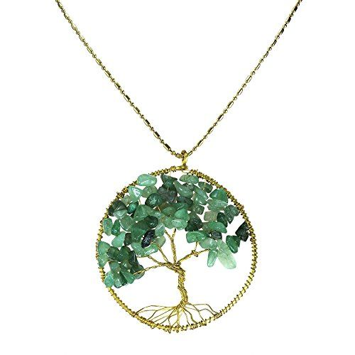 AeraVida Cultured Freshwater White Pearl Eternal Tree of Life Brass Beads Long Necklace