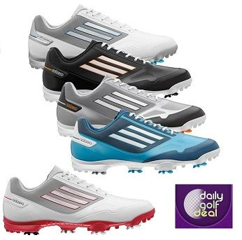 Today's Deal: Adidas Adizero Golf Shoes – Black/Grey/Solar Metallic/White & Grey/White & Red http://dailygolfdeal.co.uk/deals/deals/ddsdzroglfshs/