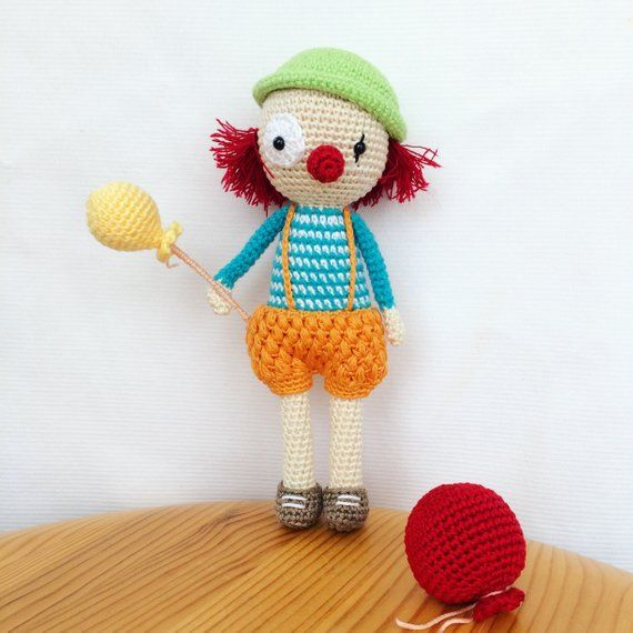 Sebastian, The Clown Amigurumi Pattern | Amigurumis lindos ...