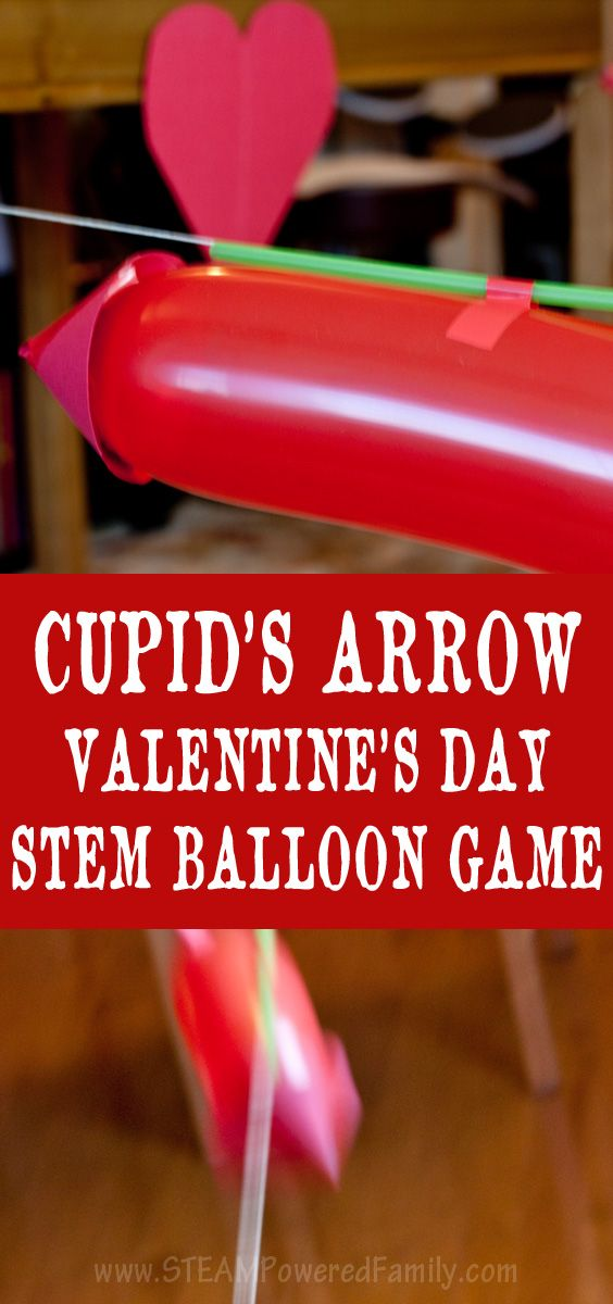 Get everyone up and moving with this Cupid's Arrow Balloon Physics Challenge. A fun twist on balloon races while learning Newton's Third Law via @steampoweredfam