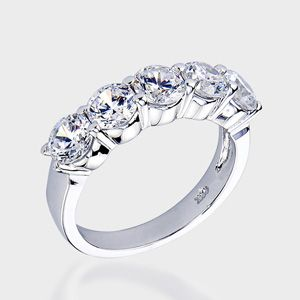 Round 2 5 Carat 14k Wedding Band Cz Wedding Bands Cubic Zirconia Wedding Bands Diamond Carat Size