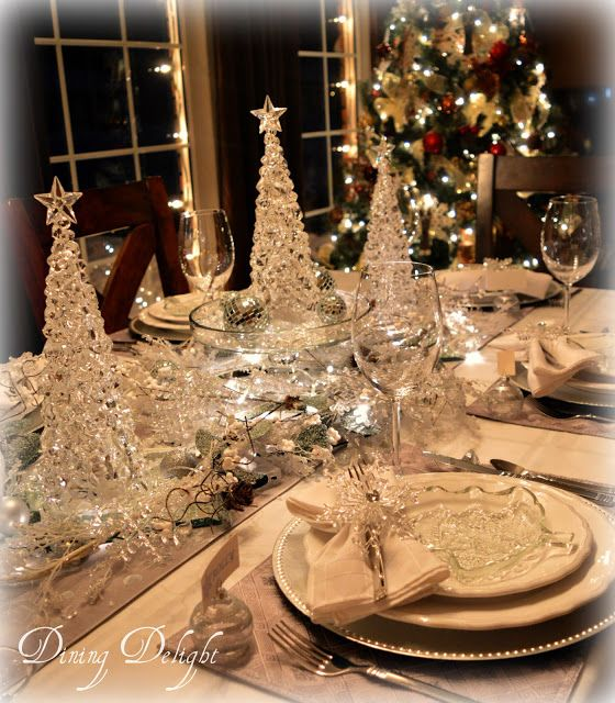 Frost Ice Christmas Tablescape Christmas Tablescape Christmas