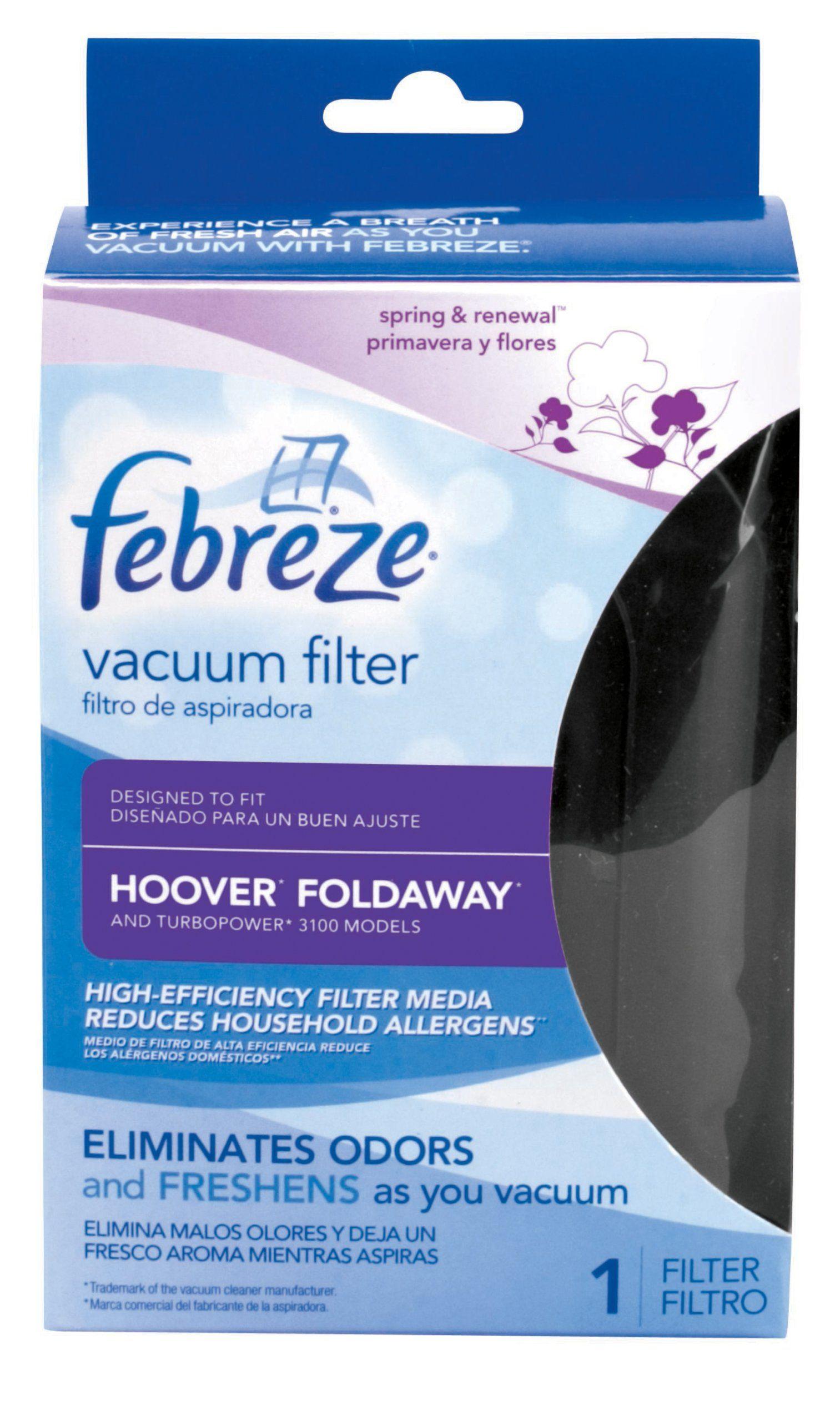Febreze Hoover Foldaway Replacement Vacuum Filter Check
