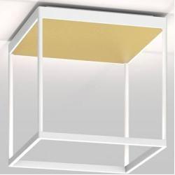 Photo of serien.lighting Reflex² Ceiling M 300 ceiling light white reflector pyramid structure gold triac dimm