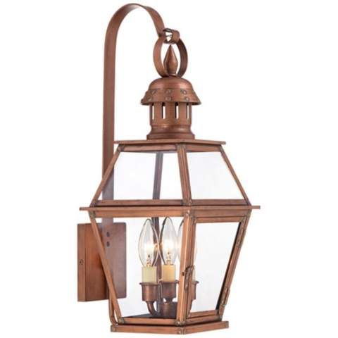 Ancaster 20 1 4 High Copper Outdoor Wall Light 4m779 Lampsplus Com Outdoor Wall Light Fixtures Copper Outdoor Lighting Led Outdoor Wall Lights