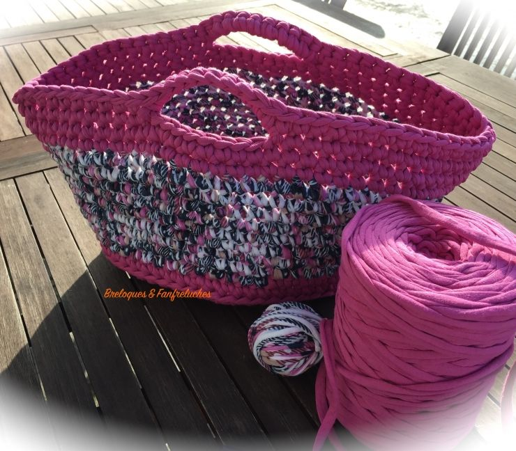 tuto sac cabas en trapilho crochet pinterest tuto sac cabas tuto sac et sac cabas. Black Bedroom Furniture Sets. Home Design Ideas