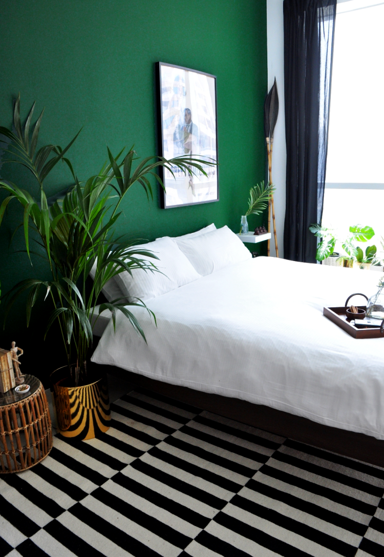 Bedroom Makeover Reveal Part 1 Green Bedroom Design Bedroom Green Apartment Therapy Bedroom