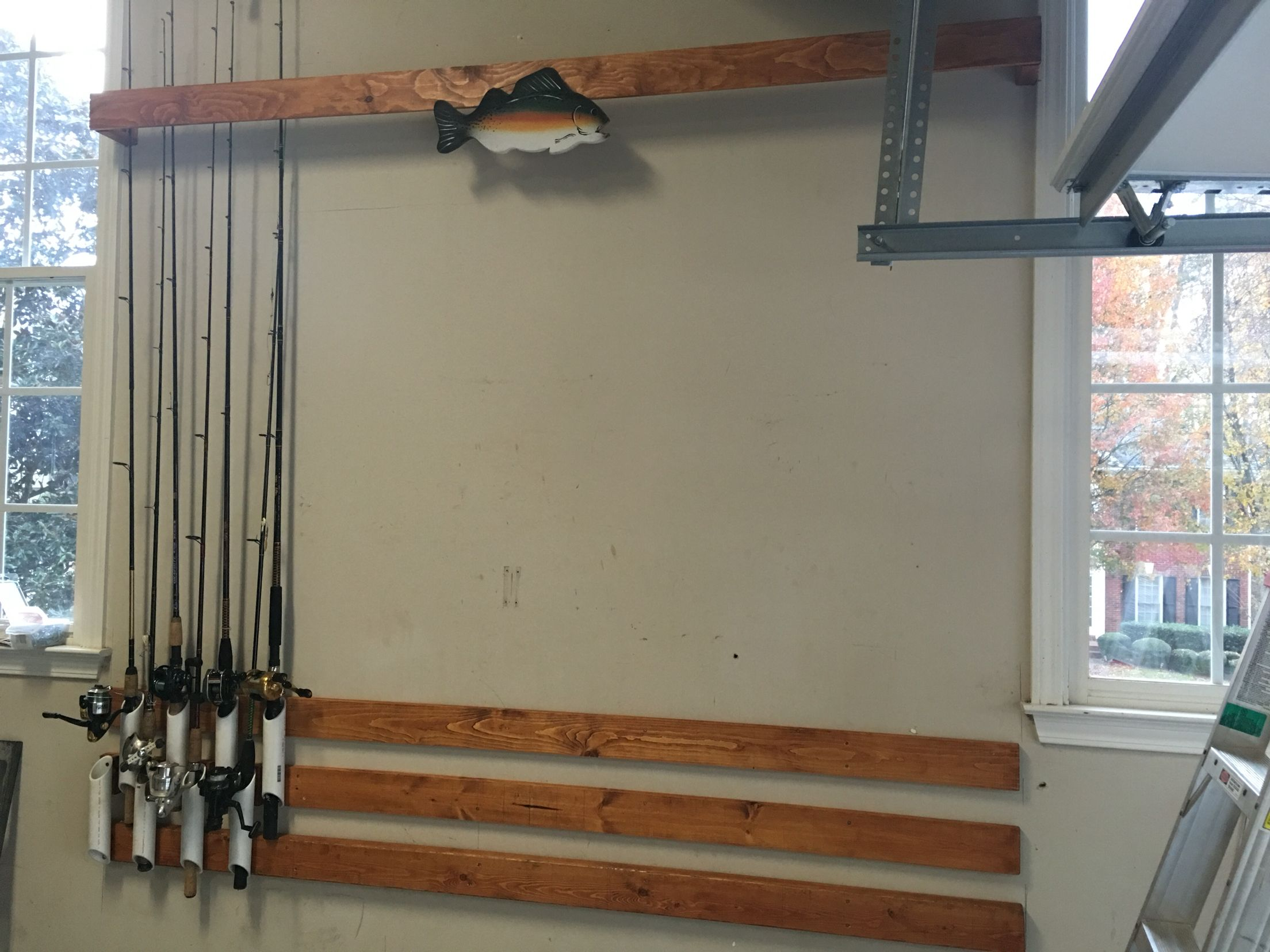 Great Fishing Pole Storage!