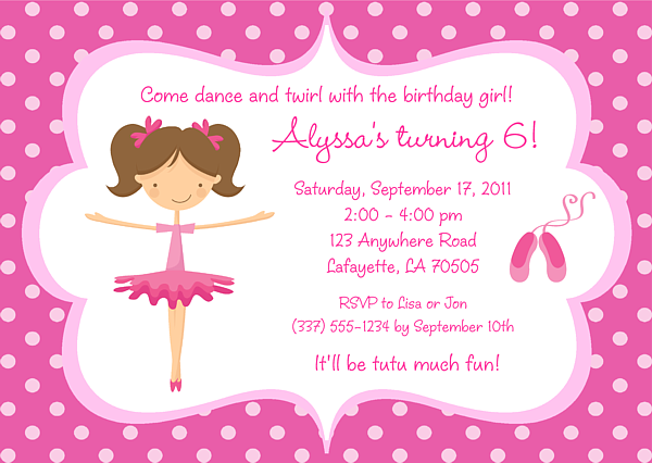 Ballerina Party Invitations Google Search Ballet Party