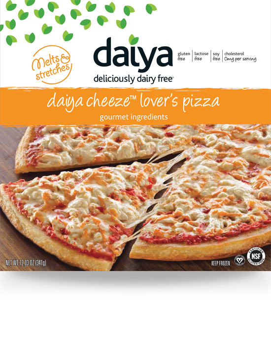 Plant Based Cheeze Lover S Pizza Daiya Foods Deliciously Dairy Free Dairy Free Pizza Whole Food Recipes Food
