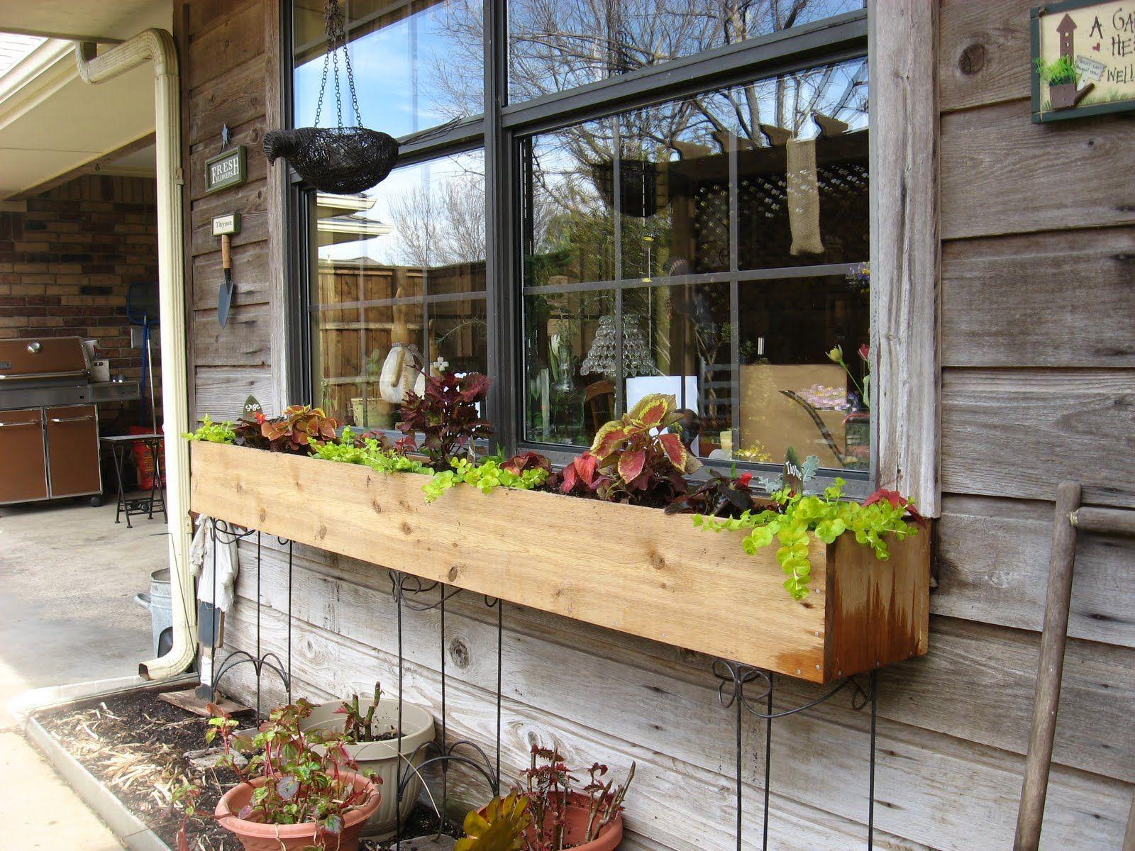 window box legs garden planter