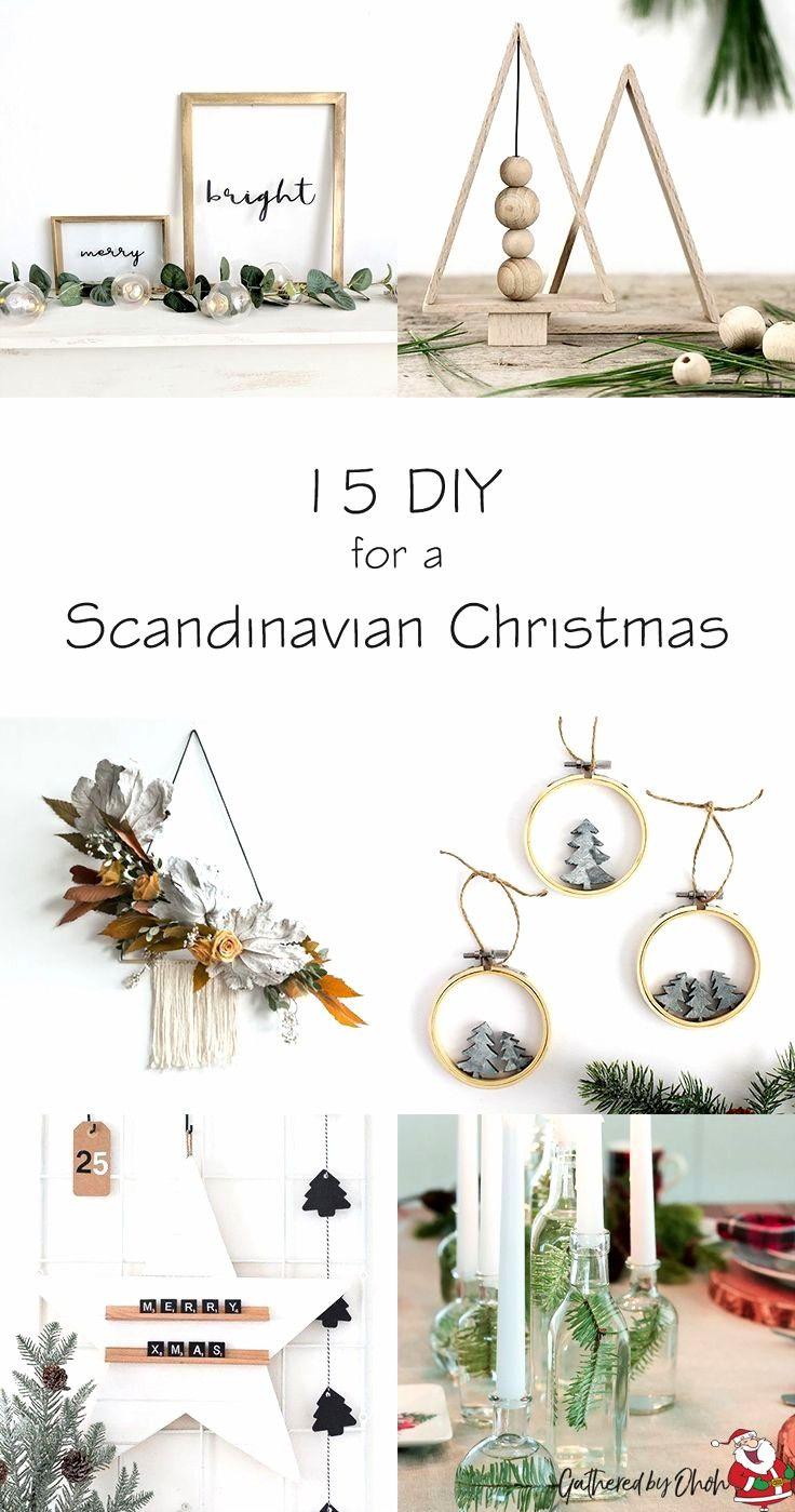 unglaublich 15 Basteln Sie eine skandinavische Weihnachtsdekoration – For Christmas #decodenoelfaitmaison