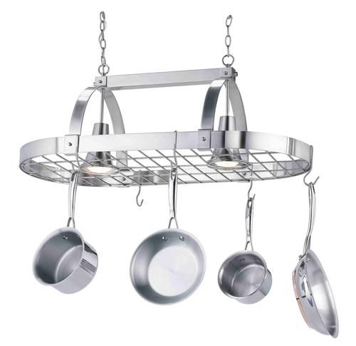 "36"" Pot Rack-2 Lights At Menards"