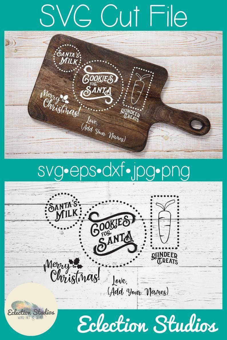 Cookies for Santa SVG, Christmas SVG, Holiday tray, Dear