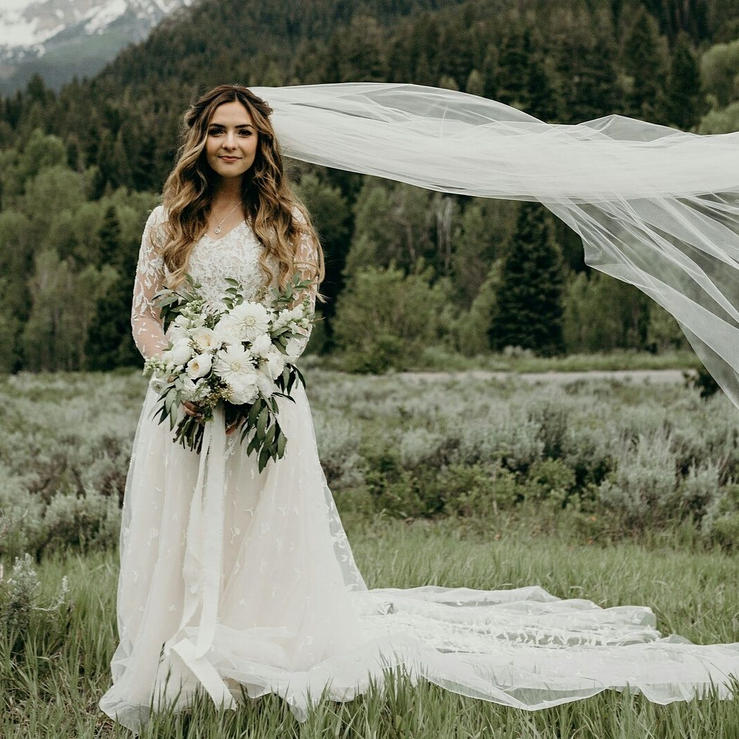 Wedding dress long sleeve  Pin by bri jackson on wedding pictures  Pinterest  Modest wedding