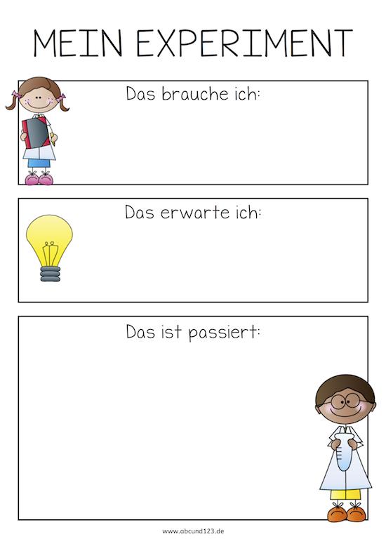 Mein Experiment - | němčina | Pinterest | Kindergarten, School and ...
