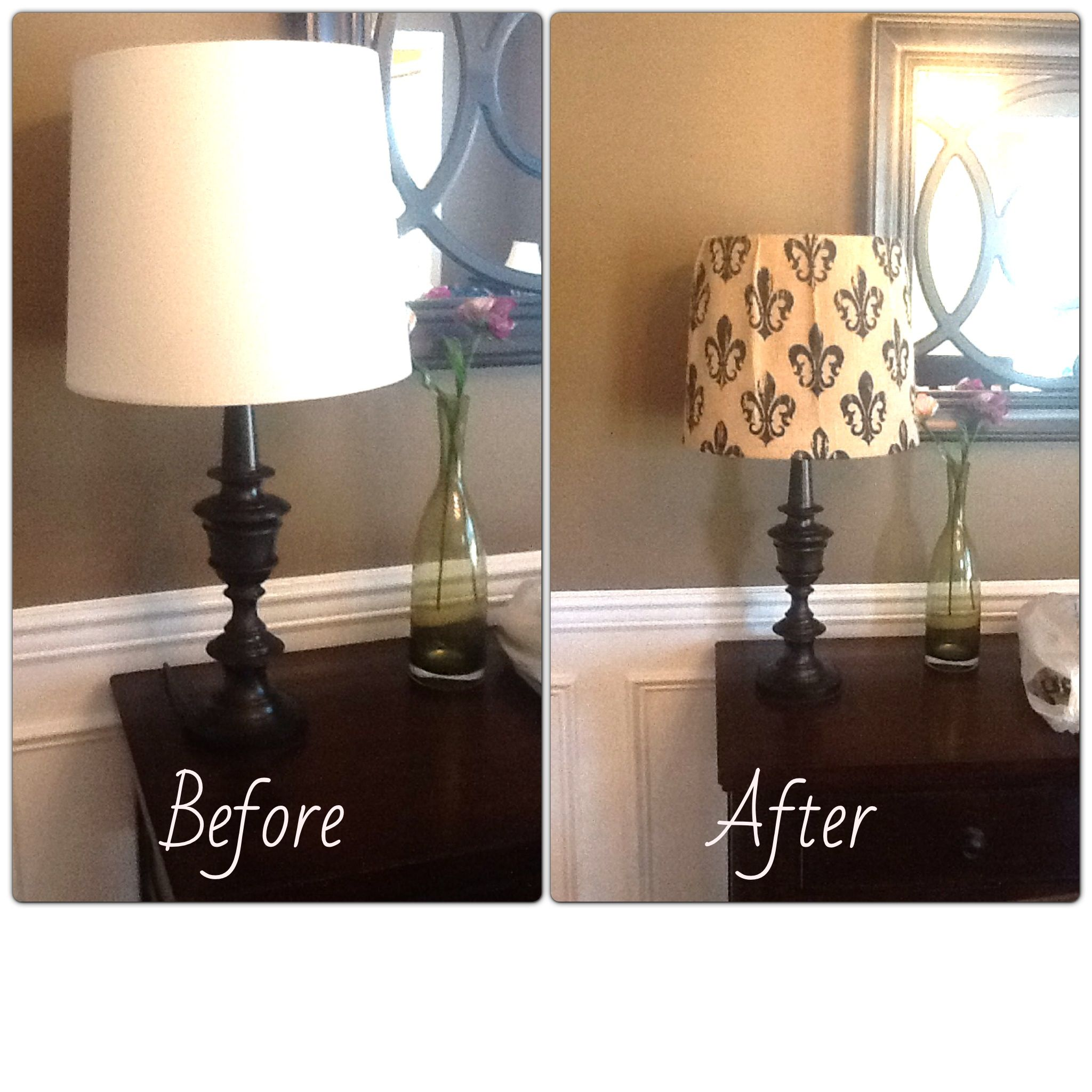 Hobby Lobby Lamp Shades Enchanting My Easy Lamp Makeovercheap Plain White Lamp Shade With Burlap Decorating Inspiration