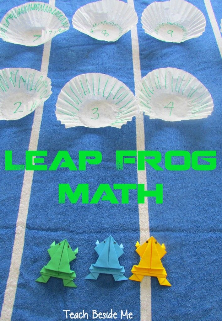 Leap Frog Math Game & Origami Jumping Frog Math games