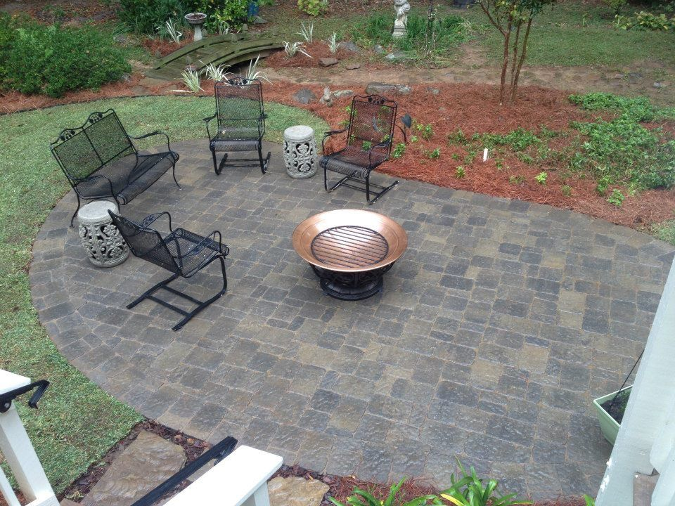 Begerac pavers by Belgard were used to build this low maintenance backyard paver  patio. - Begerac Pavers By Belgard Were Used To Build This Low Maintenance