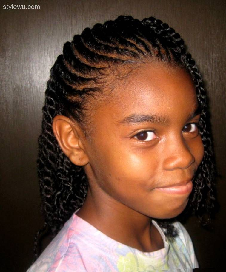 13 Year Old Girls Hairstyles : girls, hairstyles, Hairstyles, Natural, Kids,, Styles,, Braided
