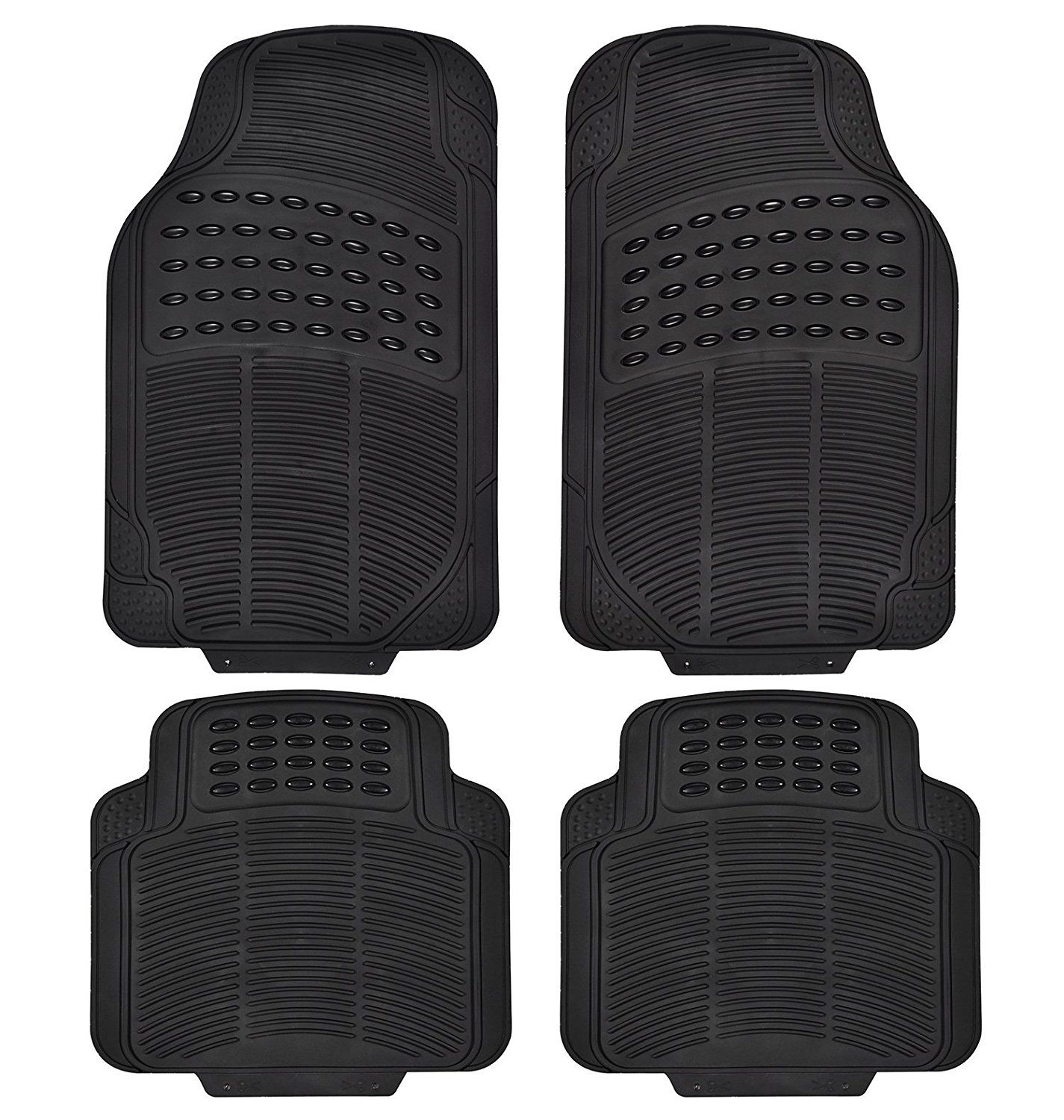 Amazon Com Heavy Duty Rubber Floor Mats For Cars Floor Rear Rubber Mats All Weather Protection Universal Car Rubber Floor Mats Car Floor Mats Rubber Flooring