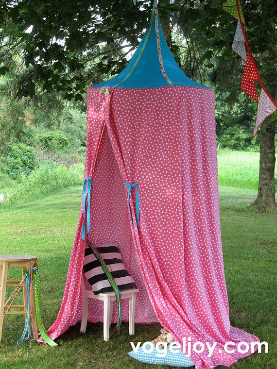 Canopy play tent. This is pretty awesome for indoor/outdoor play time! & PATTERN! - Canopy - Play Tent - Playhouse - Princess Tent - Hula ...