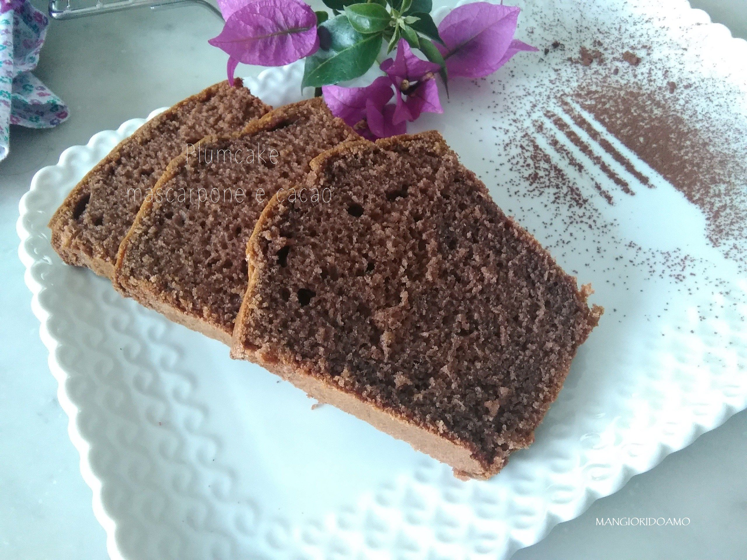 Plumcake mascarpone e cacao http://www.mangioridoamo.com/2016/09/12/plumcake-mascarpone-e-cacao/
