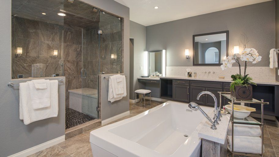 Newly Remodeled Bathroom With Tub And Walk In Shower Small Bathroom Remodel Cost Bathroom Renovation Cost Bathroom Remodel Master