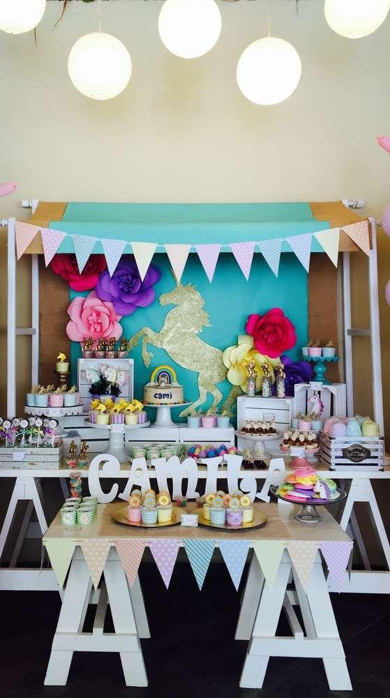 Unicorns rainbow And Fun Birthday Party Ideas