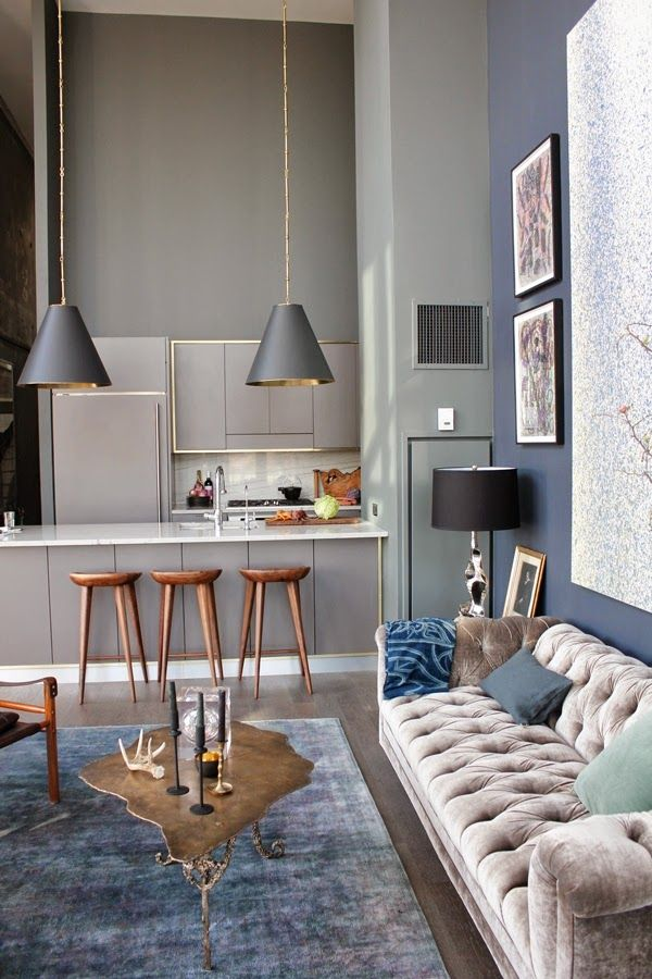 living room in blue%0A blue  grey  and wood details