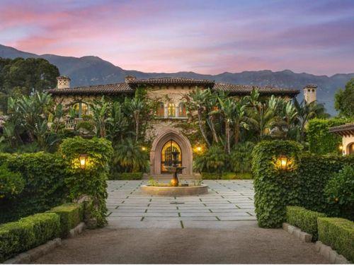 estate of the day 15 9 million spanish mansion in montecito rh pinterest com