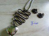 collana realizzata con alluminio nero #jewelry #bijoux #handmade