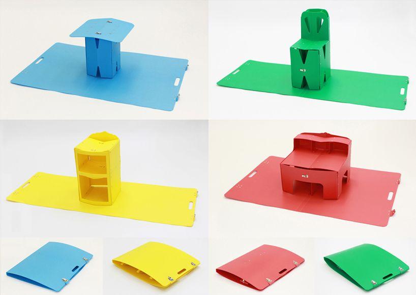 mariko tsujimoto folds origami pop up furniture out of book covers rh pinterest com