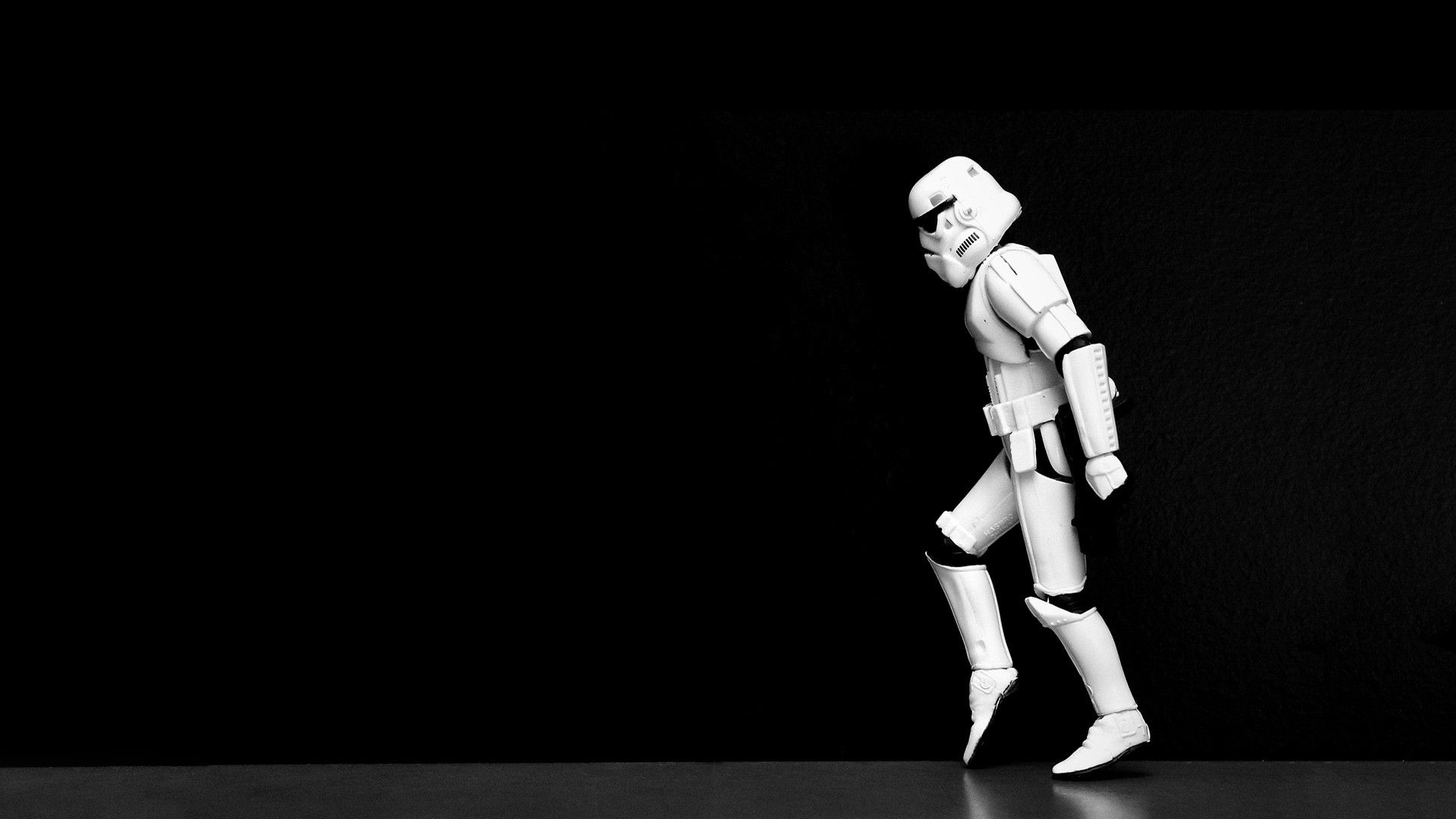 Funny Star Wars Black Hd Wallpaper Stormtrooper Moonwalker