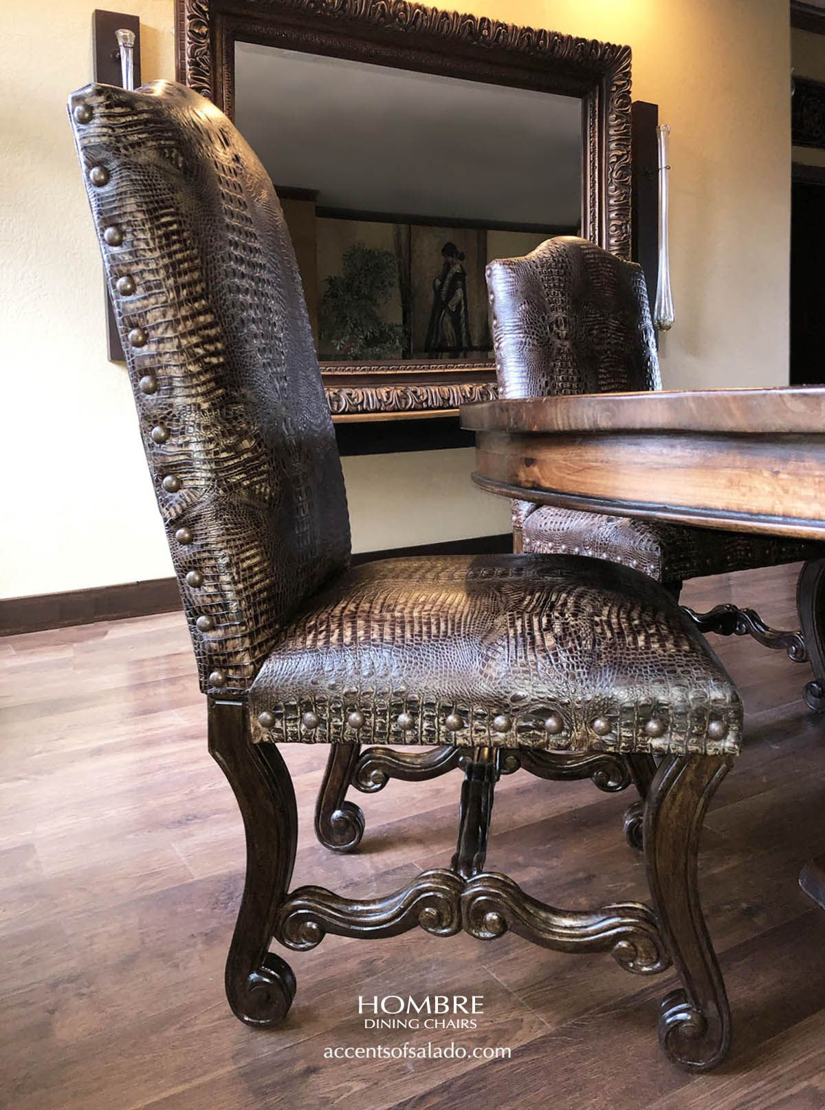 Crocodile Dining Chairs At Accents Of Salado Leather Dining Room Chairs Tuscan Decorating Dining Chairs