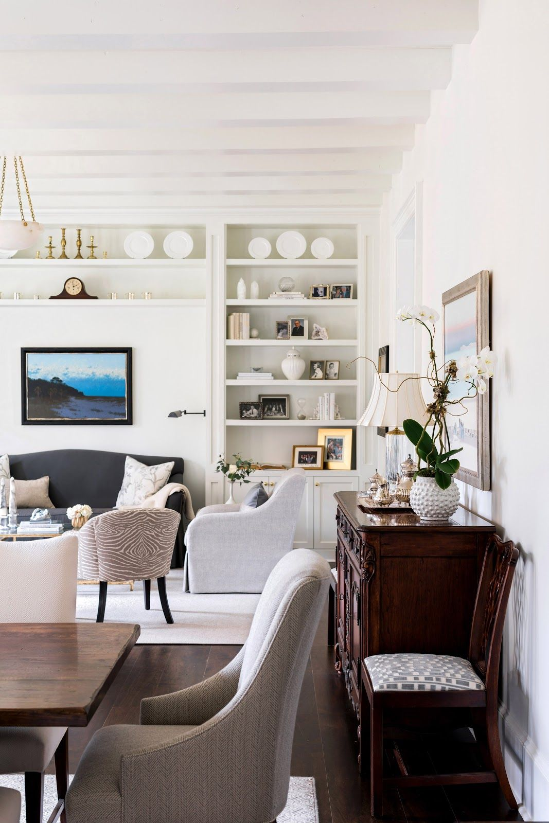 before and after living room and dining room living gracefully rh pinterest co uk